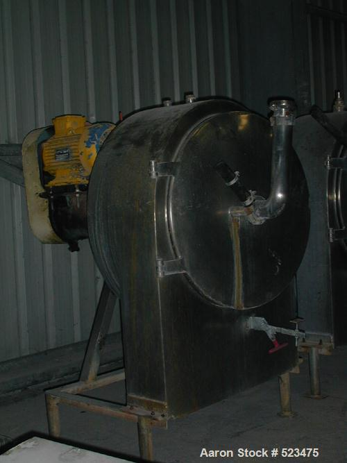 USED: Alfa Laval GL-600 screening centrifuge. Stainless steelconstruction on product contact areas, constant angle bowl desi...