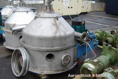 Used- Stainless Steel Dorr Oliver/Mercone Screen Bowl Centrifuge