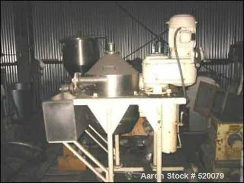 "USED: Model C-200 Dorr-Oliver Mercone centrifugal screen separator, stainless steel construction, 2"" feed, 2"" discharge, rem..."