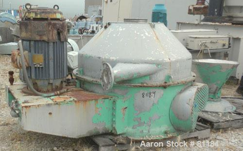 """USED: Dorr Oliver/Mercone C-400 Screening Centrifuge, 316 stainless steel construction on product contact areas. 2"""" pitch 10..."""