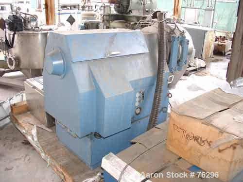 USED: Heinkel HF-300 inverting filter centrifuge. Hastelloy C-22 construction on product contact areas. Max bowl speed 3000 ...