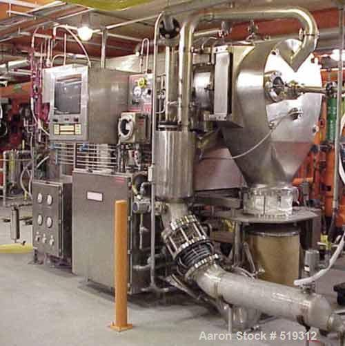 USED: Heinkel HF600 inverting filter centrifuge, 316 stainless steelconstruction, pharmaceutical grade finish. Max bowl spee...