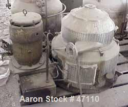 "Used- Sharples M-210 Conejector Screening Centrifuge. 316 Stainless steel (product contact areas). 8 Lead, 2/3 turn, 2"" pitc..."