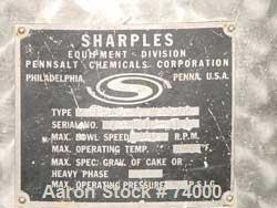 USED: Sharples M-210 Conejector screening centrifuge. 316 stainless steel, gearbox, torque arm assembly, casing, rinse fitti...
