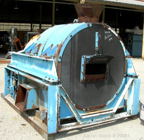 """USED: Tema HSG-1100 screening centrifuge, carbon steel. Constant angle bowl design, 48"""" diameter x 28"""" deep bowl assembly wi..."""