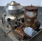 Used- Sharples M-210 Conejector Screening Centrifuge. 316 Stainless steel (product contact areas). 8 Lead, 2/3 turn, 2