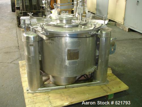 "USED: Ametek 30"" x 18"" perforated basket centrifuge, model 1-B-1. C-276 Hastelloy construction on product contact areas. Max..."
