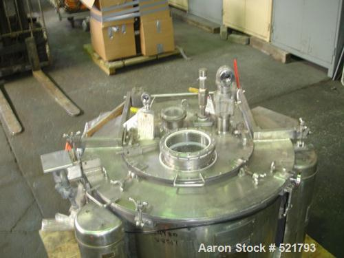 """USED: Ametek 30"""" x 18"""" perforated basket centrifuge, model 1-B-1. C-276 Hastelloy construction on product contact areas. Max..."""