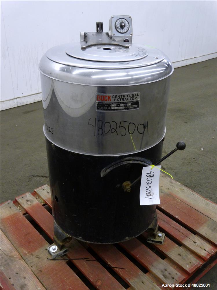 Used- Bock Centrifugal Extractor, Model 24-BC.