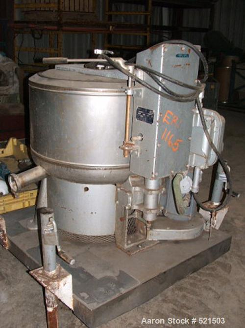 USED: Bock 655 perforated basket centrifuge, stainless steelconstruction on product contact areas. Top load, top unload, max...
