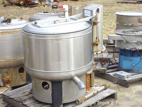 Used-Bock 805TX perforated basket centrifuge, stainless steel construction on product contact areas. Top load, top unload, m...
