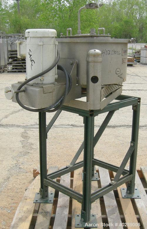 "Used-Tolhurst/Ametek center slung 16"" x 6"" perforated basket centrifuge, 316 stainless steel construction (product contact a..."