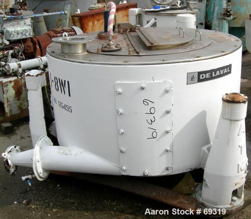 """USED: Delaval/ATM 48"""" x 20"""" perforated basket centrifuge, 316 stainless steel construction (product contact areas), top load..."""