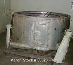 """USED: Delaval/ATM 48"""" x 20"""" perforated basket centrifuge. 316 stainless steel construction (product contact areas), top load..."""