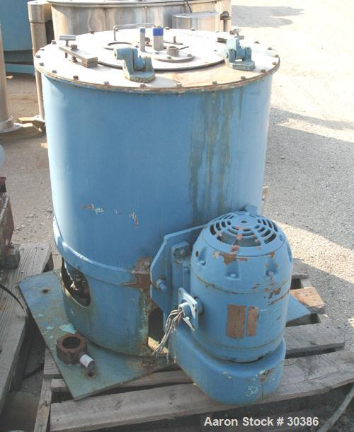 "Used- Fletcher 20"" x 11"" Perforated Basket Centrifuge. 316 Stainless steel construction on product contact areas. Top load/u..."