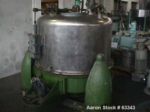 Used- Stainless Steel Heine Perforated Basket Centrifuge