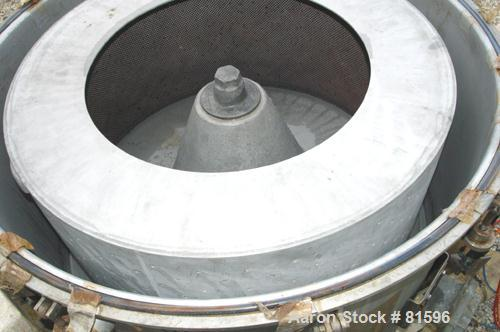 Used- Stainless Steel Ketema Perforated Basket Centrifuge