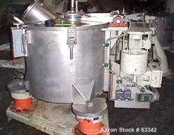 Used- Stainless Steel Ellerwerk Perforated Basket Centrifuge, Type 733C