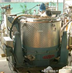 Used- Stainless Steel Rousselet Perforated Basket Centrifuge, Model SC85-3KSAR