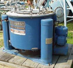 Used-Tolhurst Ametek Basket/Batch Rubber Lined Center-Slung Centrifuge, Model 1-B-1