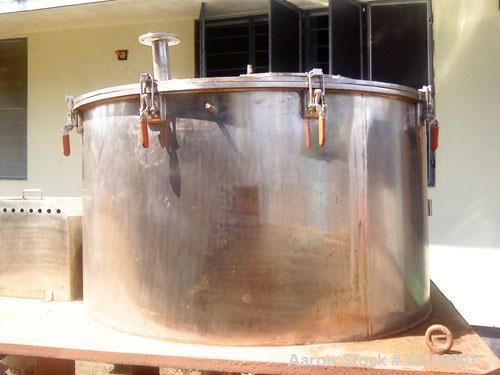 """Used-Oriental Engineering Perforated Basket Centrifuge, stainless steel construction (product contact areas). 60"""" diameter x..."""