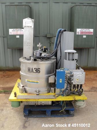 Used-Rousellet model RC63VXDECR stainless steel basket centrifuge