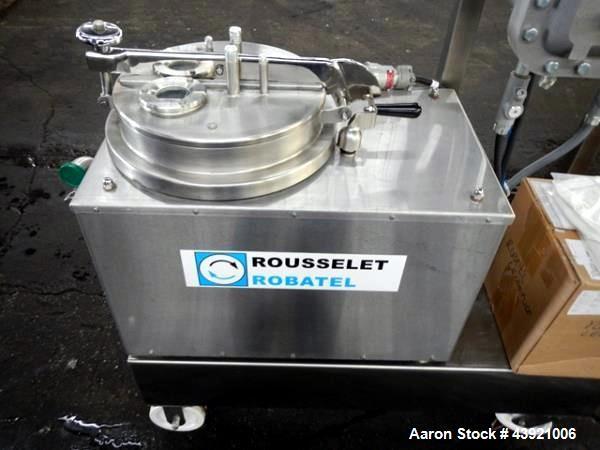 "Used- Rouselet-Robatel Centrifuge, Type RC 20 VXR. Hastelloy C22 construction, 200mm(7.8"") diameter x 100mm (3.9"") deep perf..."