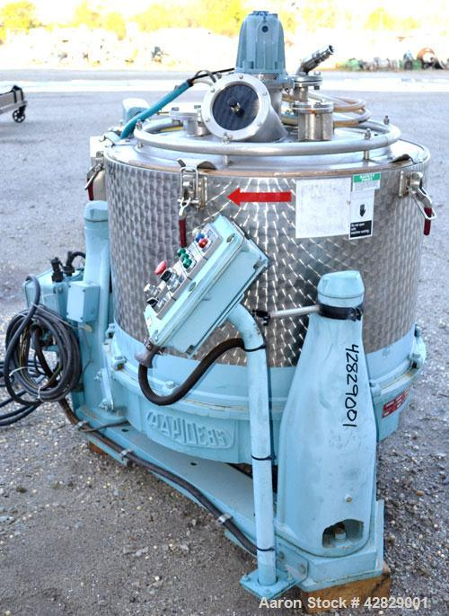 Used- Rousselet SC85-3KSAR Perforated Basket Centrifuge. 316 Stainless steel construction on product contact areas, top load...