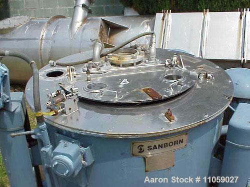 Used- Stainless Steel Sanborn Basket/Batch Type Centrifuge, Model 40