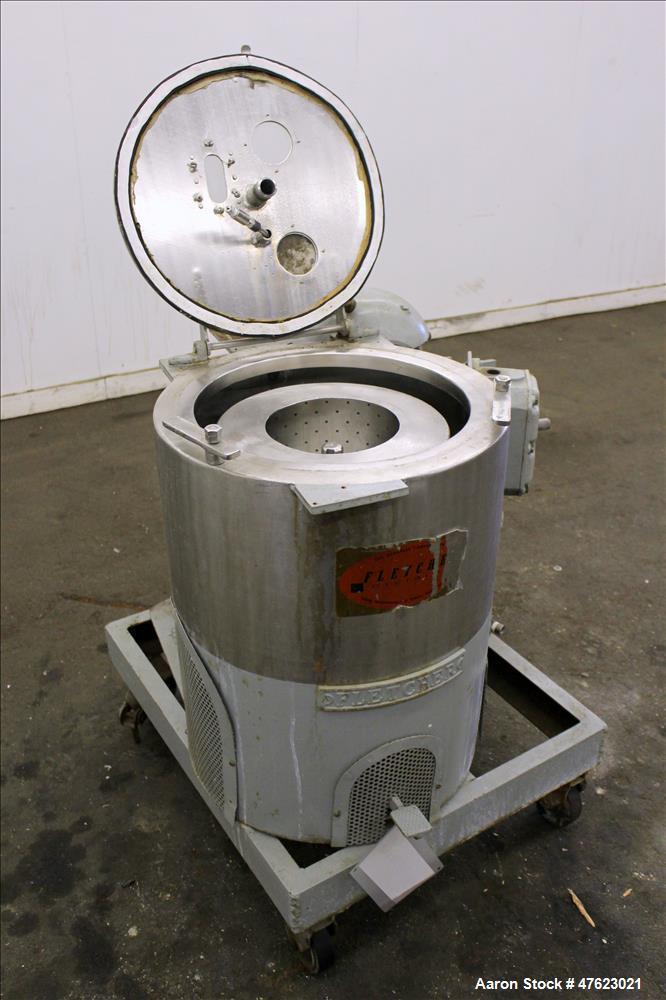 "Used- Fletcher/Sharples 14"" x 6"" Fletcher Perforated Basket Centrifuge, Size 14."