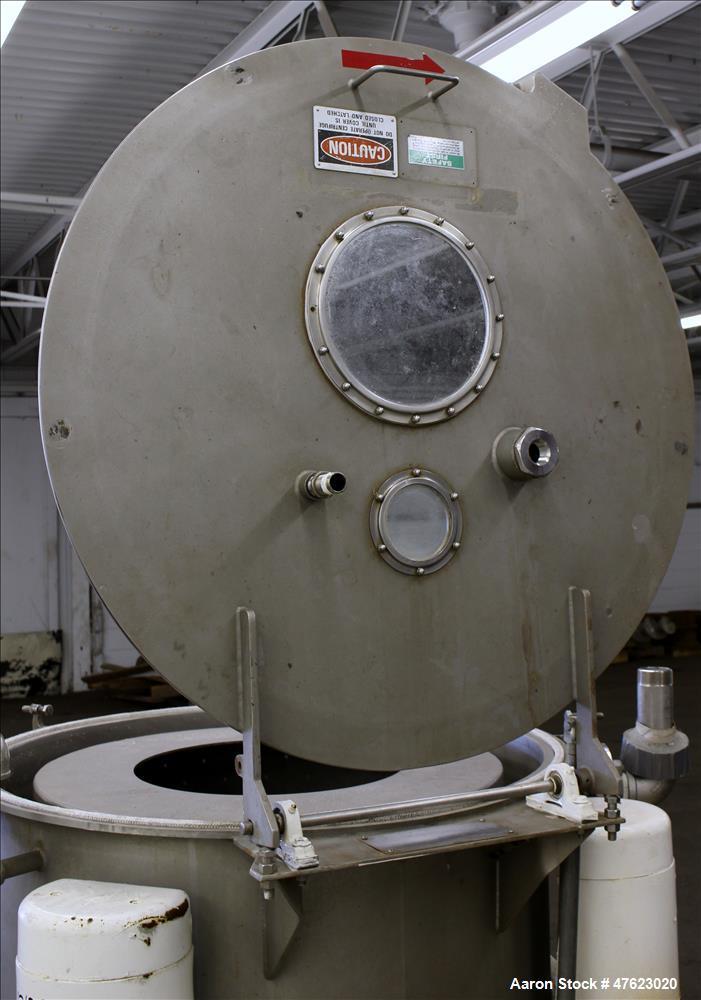 "Used-Tolhurst 30"" x 18"" Center-Slung Perforated Basket Centrifuge"