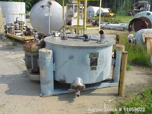 Used- Stainless Steel Tolhurst Ametek Basket/Batch Rubber Lined Center-Slung Centrifuge