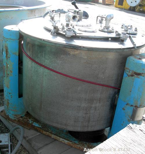Used- Stainless Steel Tolhurst Perforated Basket Centrifuge