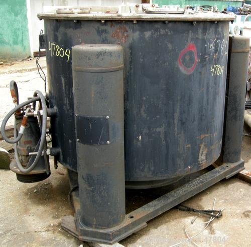 """USED: Tolhurst 30"""" x 18"""" perforated basket centrifuge. 316 stainless steel construction, top load, top unload. Max bowl spee..."""