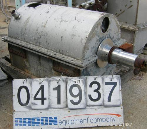 USED: Bird 18 x 28 decanter centrifuge parts:  bowl (cylinder design), hubs, casing, conveyor.
