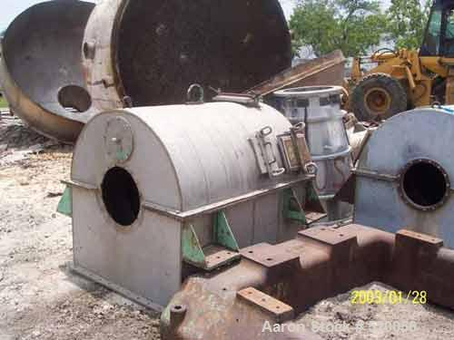 USED: Bird decanter centrifuge rotating assembly, 24 x 38 solid bowl, 316 stainless steel, LB161196, SA44-1159, P1533A1.