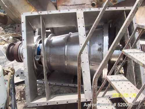 USED: Bird decanter centrifuge rotating assembly, 32 x 50 conical bowl, 316 stainless steel, LB16-127, LB16-152.