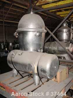 Used- DeLaval Separator, Model 410. Stainless steel product contact areas. Oil sight glass, 7000 rpm tach, cover handles and...