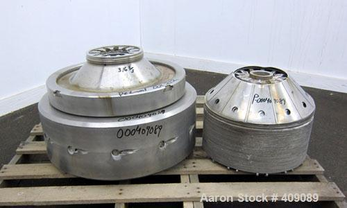 Used- Stainless Steel Delaval QX-212 Nozzle Centrifuge Bowl Assembly