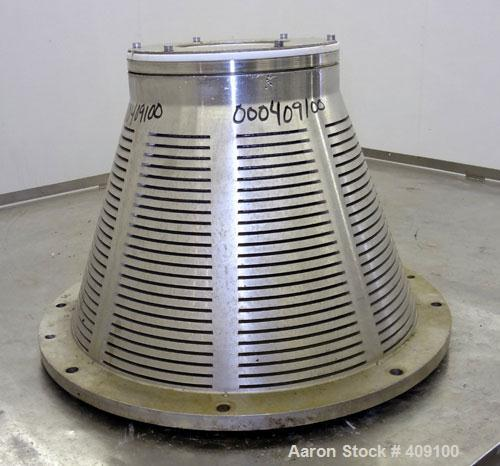 Used- Stainless Steel Dorr Oliver/Mercone C-400 Screening Centrifuge Bowl Assembly