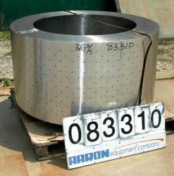 Used- Stainless Steel Tolhurst Perforate Basket Centrifuge Bowl