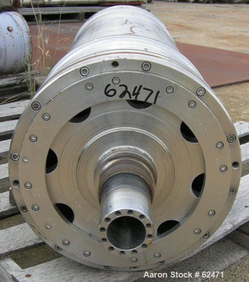 USED: Sharples P-3400 Super-D-Canter centrifuge rotating assembly. 316 stainless steel construction. Max bowl speed 4000 rpm...