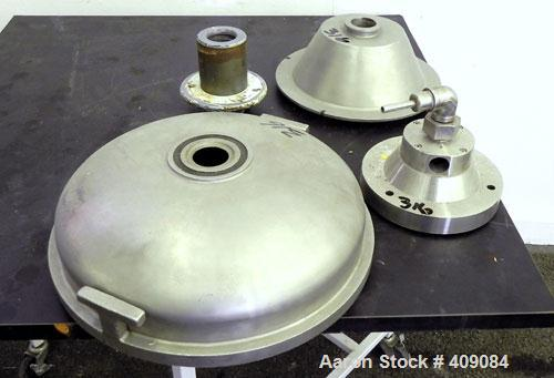 Used- Sharples AS 26 Centrifuge Parts. Consisting of: (1) AS 26 bowl assembly, custom 450 stainless steel. Clarifier design....