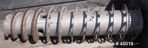 """Used- Sharples P-3400 Super-D-Canter Centrifuge Conveyor, quasi-axial design, 316 stainless steel construction, 4.25"""" single..."""