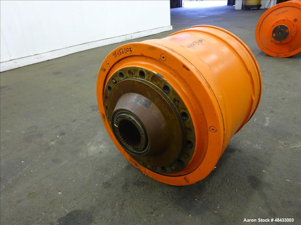 Used- Sharples P180 Super-D-Canter Centrifuge Gearbox, 47/1 ratio