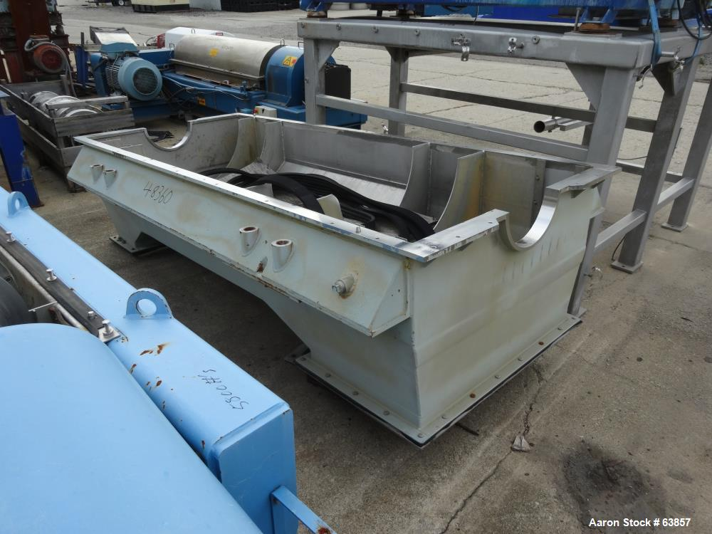 Used- Stainless Steel Sharples Super-D-Canter Centrifuge Lower Casing