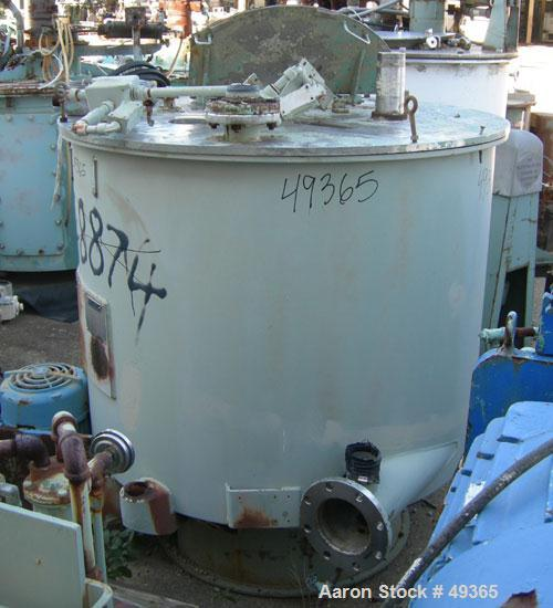 Used- Sharples SP-6500 Sludge-Pak Solid Bowl Basket Centrifuge curb housing and top cover with inspection door, stainless st...