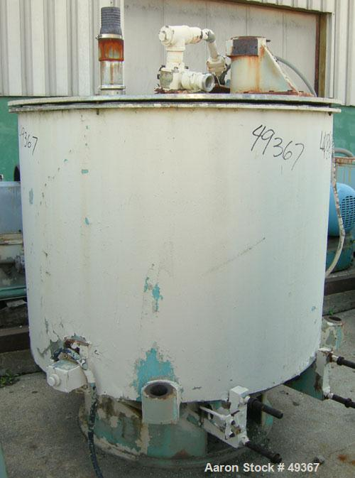 Used- Sharples SP-6500 Sludge-Pak Solid Bowl Basket Centrifuge curb housing and top cover with plow housing, feed pipe, bask...