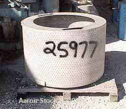 "USED: Parts for a Tolhurst 40 x 24 bottom dump basket centrifuge consisting of the basket 40"" diameter x 24""deep. T316 stain..."