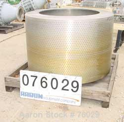 """Used- Parts for a Tolhurst basket centrifuge. Consisting of (1) 48"""" x 30"""" Perforated basket, 316 stainless steel."""